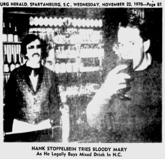 1978 - Hank Stoppelbein tries Bloody Mary